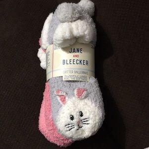 Jane and Bleecker critter ballerina socks